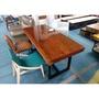 台森傢俱工坊*原木厚板桌板餐桌非洲花梨木餐桌178*82厚10高77cm餐桌有實品可看36900元