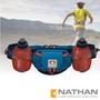 【美國 NATHAN】Trail Mix Plus 雙水壺腰包(600ml)/適補給訓練 三鐵 自行車 登山.運動.馬拉松.野跑.路跑/NA4637NMBO 藍/橘