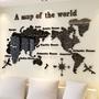 特大 世界地圖 拼圖 壓克力壁貼