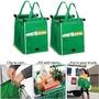 綠色環保袋超市購物袋 超市手推車掛袋 摺疊收納袋
