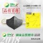 【免運】:dc 克微粒 奈米薄膜 立體口罩 防PM 2.5 空污 油煙 粉塵 成人 (6片/盒,共 5 盒 )