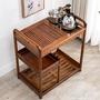 茶具車 雞翅木移動茶車家用茶臺功夫茶具茶盤套裝電磁爐一體客廳茶桌邊柜