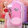 豪華芭比娃娃禮盒包裝塑料玩具,更衣室玩具屋家具衣櫃玩具套裝女孩