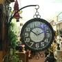 歐式古典雙面鐘 時鐘 掛鐘 工業風