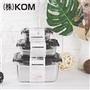 LMG長野 KOM日式輕量不鏽鋼保鮮盒黑蓋三件組(350ml+850ml+2800ml) (LMG022-BL)