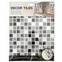 DECOR TILES 磁磚貼-馬賽克黑白(KJ633) 25.5x25.5cm