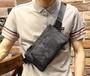 FINDSENSE Z1 韓國 時尚 潮 男 牛津皮 迷彩 尼綸 多功能休閒小腰包 小胸包 手機包 單肩包