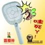 霹靂神ZAP-301電蚊拍2支 台灣製造榮獲國際發明展金牌獎 小蟑螂打到小黑蚊、小果蠅 只電蚊蟲不電人 用過就上癮