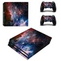 eSeeking Full Body Purple and Blue Cosmic Nebular Protective Vinyl Skin Decal For PS4 Pro Console and 2PCS Controller Skins - intl