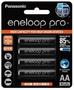 <4顆裝>黑鑽款 Panasonic eneloop PRO 2550mAh 低自放3號充電電池