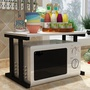 雙層廚房置物架 廚房 置物架 收納架 微波爐置物架 調料架 烤箱架 木紋雙層 儲物 廚房用品【N161】168批發倉庫