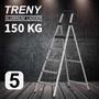 【TRENY直營】TRENY 工作台五階 鋁梯 荷重150公斤 防滑 鋁合金 工作梯 扶手梯 A字梯 梯子 0967