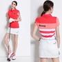 Golf高爾夫衣服 女士T恤 女運動服立領高爾夫球衣 3色