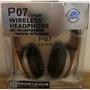 全新 P07 頭戴式藍牙耳機 5.0+EDR 藍芽耳機 耳罩 無線 金灰色 折疊式 可調音量 TF 插卡 運動式 3C