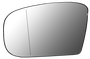 汽車精品 賓士系列後照鏡替換鏡片盤組 電鍍鏡+除霧功能 M-BENZ S CLASS W220 1998-2006