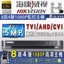 無名監控科技 - 監視器 海康威視 500萬 5MP 8路主機 H265 手機遠端 含稅 DS-7208HQHI-K1
