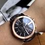 Gucci G-Chrono 玫瑰金皮帶古奇 手錶男錶 YA101202