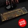 復古背光家用發光外接有線機械手感游戲鍵盤繁體注音倉頡USB有線鍵盤 辦公鍵盤 繁體中文 有注音符號倉頡 遊戲電競