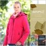 【瑞多仕-RATOPS】女款 二件式防水透氣 Primaloft 保溫棉保暖外套.防風夾克.禦寒大衣/ RAW625 櫻粟紅色