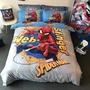 蜘蛛人鋼鐵人復仇者聯盟床包四件組 床單被套床包枕宅配免費套漫威Marvel 單人雙人床包 黑豹美國隊長黑寡婦索爾奇異博士