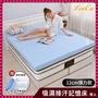【送枕x2+毯】LooCa吸濕排汗12cm彈力記憶床墊-共兩色(雙人5尺-開學獨家)