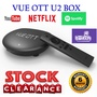 VUE OTT U2 Android TV Box Local Warranty with Youtube/ Netflix/ Twitch/ Red Bull TV  SG Brand
