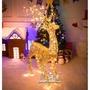 發光大型麋鹿佈置道具LED帶燈商場聖誕裝飾品