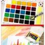 櫻花泰倫斯24色固體水彩顏料套裝18/30/36/48色透明櫻花水彩
