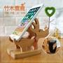 麋鹿二合一手機座 竹木小鹿桌面手機支架 麋鹿造型手機支架 懶人支架 聖誕禮物 (3.3折)