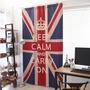 【熱銷】【超夯新款】韓國宜家棉麻復古清新簡約英國美國國旗窗簾門簾隔斷裝飾定制成品