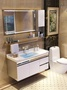 浴室櫃組合洗漱台洗手池洗臉盆櫃衛生間落地不銹鋼衛浴櫃吊櫃鏡櫃  ATF 名購居家