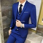 男士男士西服套裝三件套商務裝韓版西裝外套男正裝職業修身新郎小西裝