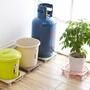 ●MY COLOR●可移動式滑輪托盤 瓦斯桶 盆栽 大型 廚房 固定架 清潔 鋼瓶 置物 花盆【M111】