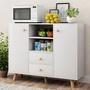 {現代家具}餐边柜现代简约多功能储物柜子带门厨房置物架经济型碗柜子北欧