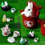 【開心特賣】 擺件【萌貨】EPOCH 屁屁兔子 茶點2 和風 擺件 動物模型 扭蛋 齊套6款