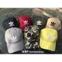 『帽子頑』現貨12色 Adidas trefoil Cap 愛迪達 黑 白 粉 黃 迷彩 三葉草 logo帽 老帽 帽子
