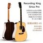 現貨免運 贈千元配件 美國品牌 Recording King Sirius Pro 全單板 民謠 木 吉他 Martin D45