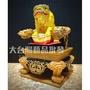 大台灣藝品批發 雙色實木屈椅 椅子 神明貼座 龍椅 三吋六神明使用 神明配件