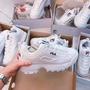 【鑫鑫】韓國限定 FILA DISRUPTOR 2 17FW新色 DARA厚底 鋸齒 女鞋 白鞋 增高 斐樂 fila