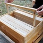 中蜂標準杉木成品巢框蜜蜂專用蜂箱銅眼鐵絲全套巢框養蜂工具 極客玩家