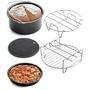 氣炸鍋配件##六吋五件套組 (烘烤籃/PIZZA盤/烤肉架/隔熱架/隔熱墊)-2