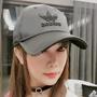adidas Originals 愛迪達立體刺繡LOGO黑色緞面帽子 緞面棒球帽 可調式防曬帽