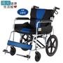 必翔銀髮手動輪椅(未滅菌)【海夫】座得住輕量型看護輪椅 後折背款 18座寬(PH-182S)