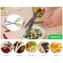 🚚 不銹鋼多層廚房剪刀 多功能家用蔥花紫菜5層碎食強力碎紙剪 切菜好方便