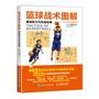 籃球戰術圖解基礎練習與實戰應用籃球實戰技巧書籃球入門教程零基礎學習籃球基礎與戰術看圖學打籃球籃球戰術訓練方法書籍