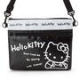 側背包 Hello Kitty 黑白 尼龍 防潑水 雙拉鍊 斜背包 正版日本進口授權
