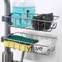 【yflive】水龍頭瀝水置物架廚房衛生間水龍頭304不銹鋼瀝水籃置物架可調節