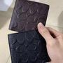COACH 75363 黑色/咖啡色 男士短夾 浮雕短夾 內置零錢袋 附購證