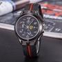 法拉利賽車系列休閒運動腕錶 男士計時石英橡膠錶帶 運動表 石英手錶 男士手錶 男生腕錶 運動手錶 商務錶 潮流手錶