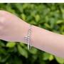 S999純銀千足銀超美手鐲手環手鏈 可調式適用於任何手圍 含擦拭銀布一條